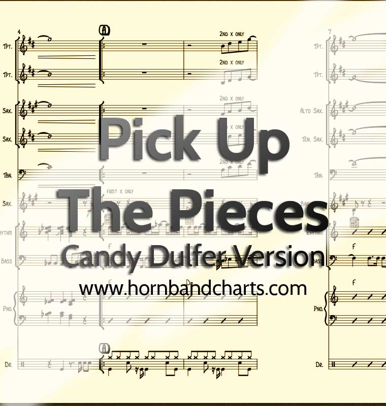 Pick Up The Pieces horn chart - Candy Dulfer version PDF download