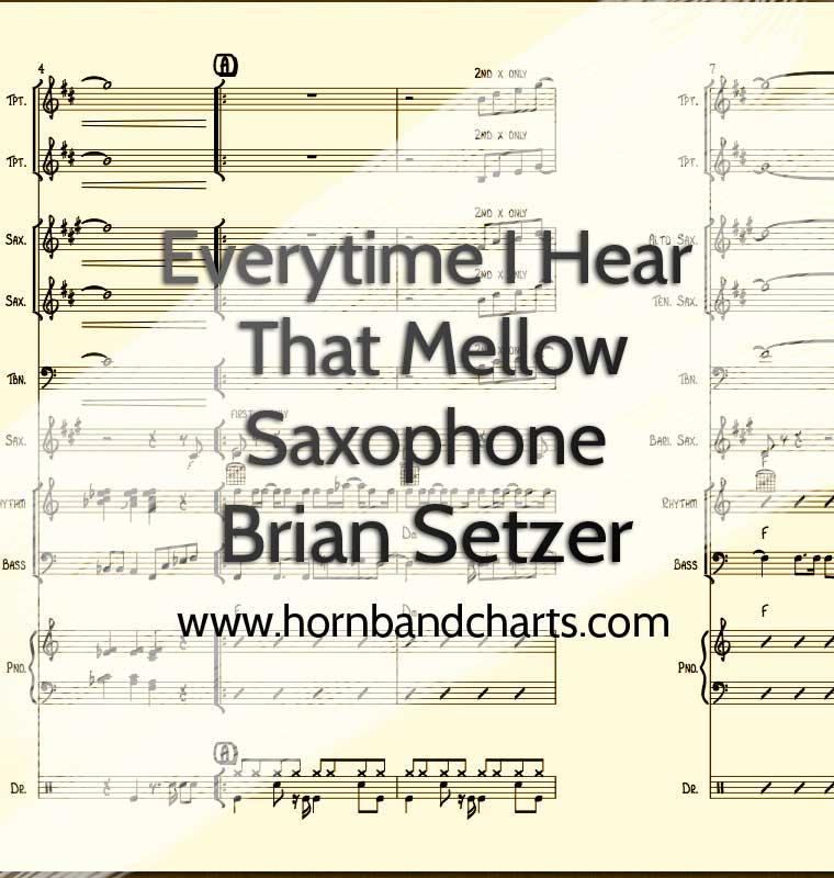 Mellow Saxophone Horn Chart PDF - Horn Band Charts