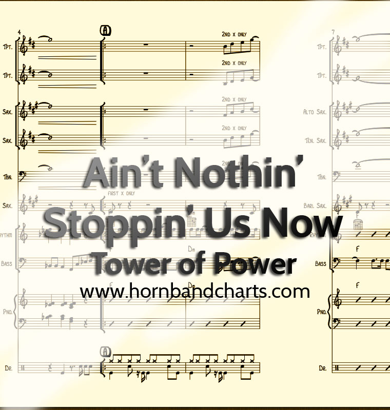 Ain't Nothin' Stoppin' Us Now Horn Chart PDF - Horn Band Charts