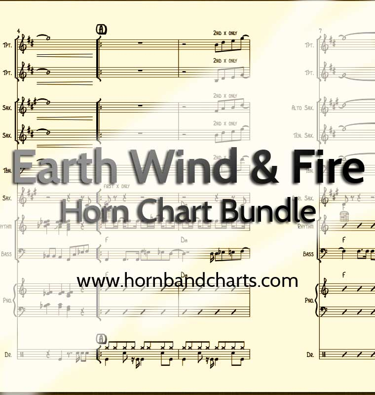 Earth Wind and Fire Horn Chart Bundle