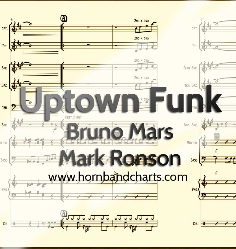 Uptown funk horn chart pdf horn band charts